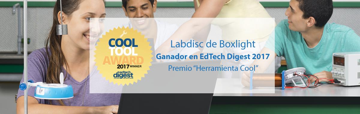 Labdisc de Boxlight, Ganador en EdTech Digest 2017 en la Categoría de Tecnología Emergente